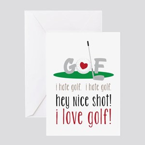 I Love Golf Greeting Cards