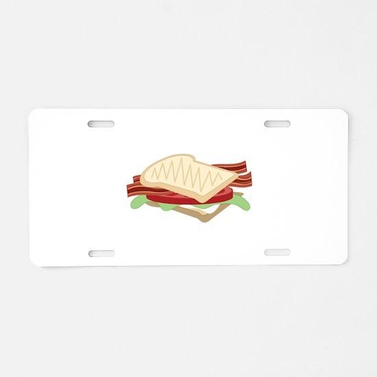 BLT Sandwich Aluminum License Plate