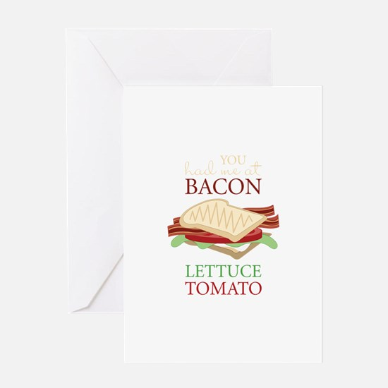 Bacon Lettuce Tomato Greeting Cards