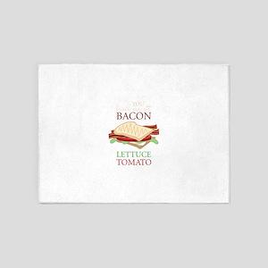 Bacon Lettuce Tomato 5'x7'Area Rug