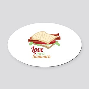 Sammich Love Oval Car Magnet