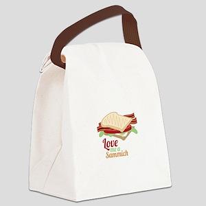 Sammich Love Canvas Lunch Bag