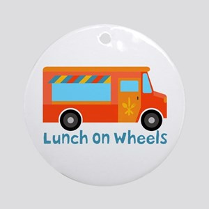 Lunch On Wheels Ornament (Round)