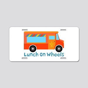 Lunch On Wheels Aluminum License Plate