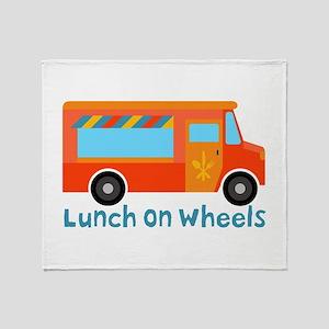 Lunch On Wheels Throw Blanket
