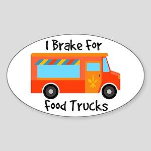 I Brake For Food Trucks Sticker