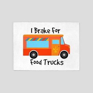 I Brake For Food Trucks 5'x7'Area Rug