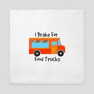 I Brake For Food Trucks Queen Duvet