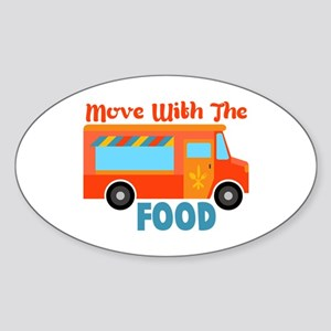 Move With The Food Sticker