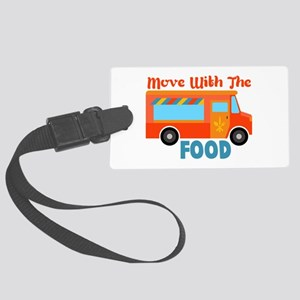 Move With The Food Luggage Tag