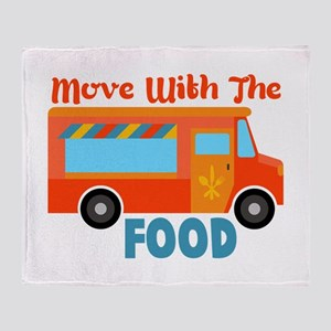 Move With The Food Throw Blanket