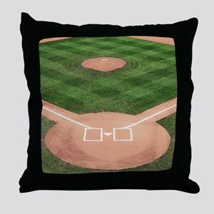 Baseball Diamond Throw Pillow