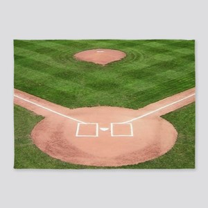 Baseball Diamond 5'x7'Area Rug