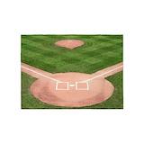 Baseball diamond 5x7 Rugs