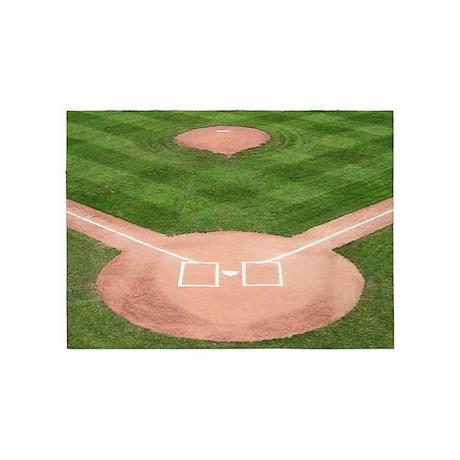 Baseball Diamond 5'x7'Area Rug