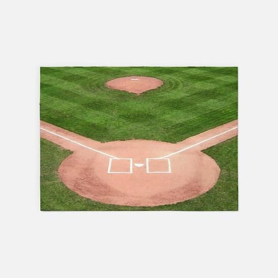 Baseball Diamond 5x7Area Rug