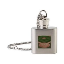 Baseball Diamond Flask Necklace