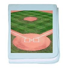 Baseball Diamond baby blanket