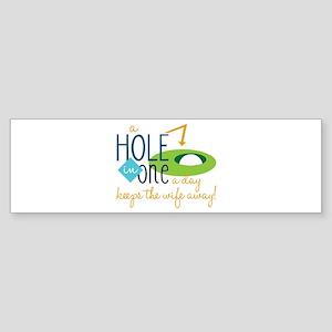 Golf Day Bumper Sticker
