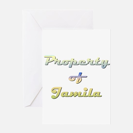 Property Of Jamila Female Greeting Card