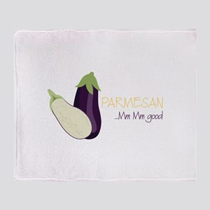 Eggplant Parmesan Throw Blanket