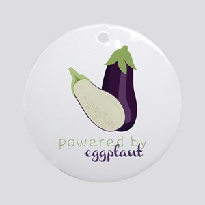 Powered By Eggplant Ornament (Round)