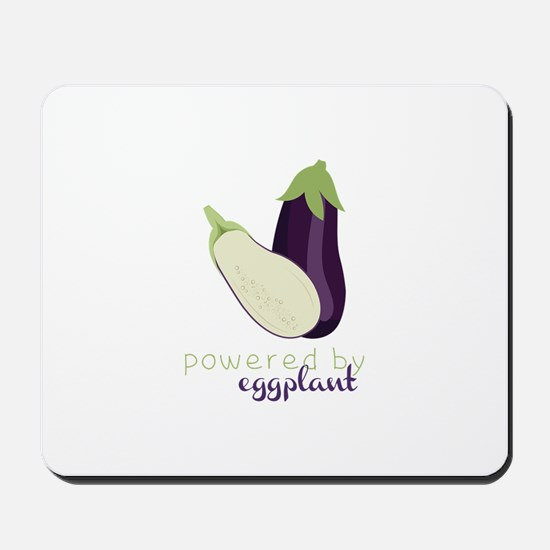 Powered By Eggplant Mousepad