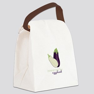 Powered By Eggplant Canvas Lunch Bag