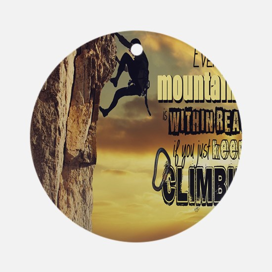 Cute Mountaineer Round Ornament