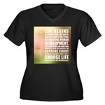 Life Begins At Conception Plus Size T-Shirt