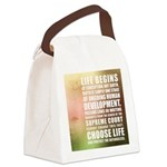 Life Begins At Conception Canvas Lunch Bag