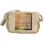 Life Begins At Conception Messenger Bag