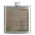 Life Begins At Conception Flask