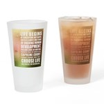 Life Begins At Conception Drinking Glass
