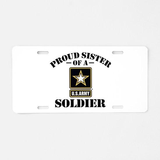 Cute Army sister Aluminum License Plate