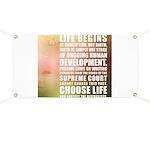 Life Begins At Conception Banner
