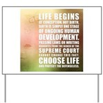 Life Begins At Conception Yard Sign