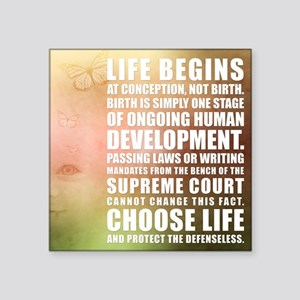 Life Begins At Conception Sticker
