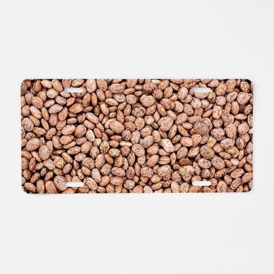 pinto beans Aluminum License Plate