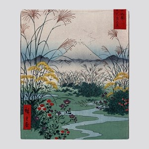 Otsuki Fields In Kai Province - Hiro Throw Blanket