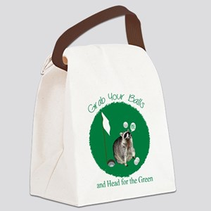Golf Raccoon Canvas Lunch Bag