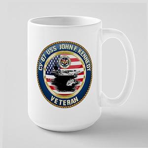 CV-67 USS John F. Kennedy Large Mug