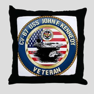 CV-67 USS John F. Kennedy Throw Pillow