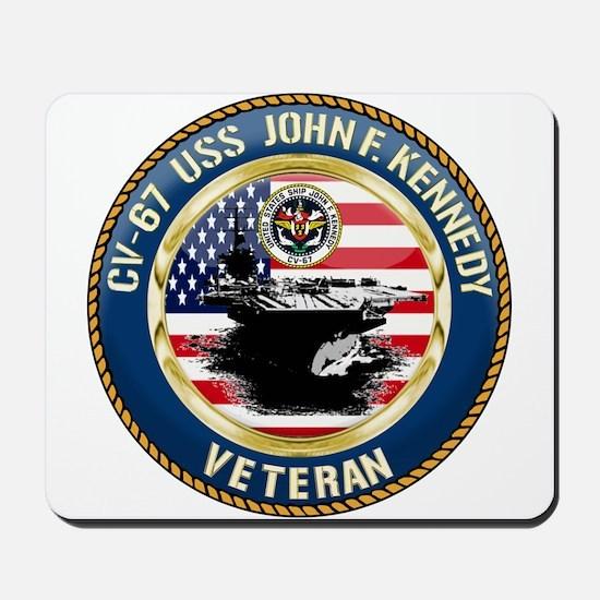 CV-67 USS John F. Kennedy Mousepad