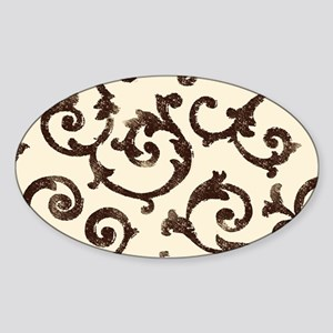 ivory and wrought iron scrolls Sticker