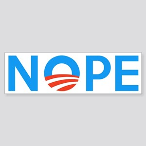 Anti Obama NOPE Sticker (Bumper)