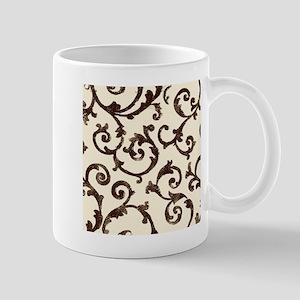 ivory and wrought iron scrolls Mugs