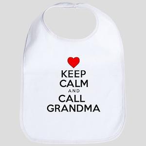 Keep Calm Call Grandma Bib