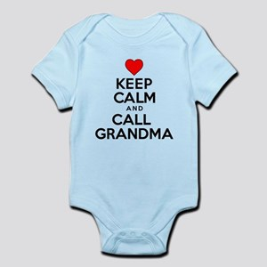 Keep Calm Call Grandma Body Suit