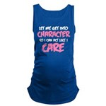 Like I Care White-Pink Maternity Tank Top